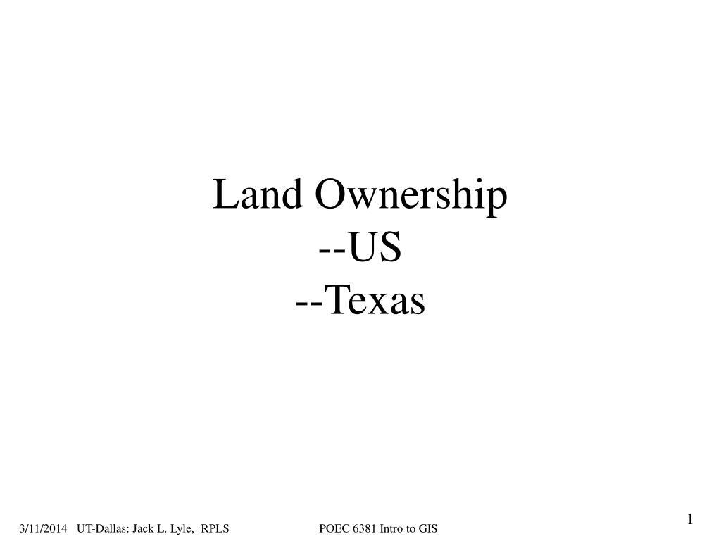 land ownership us texas l.