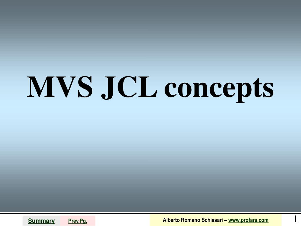 mvs jcl concepts l.