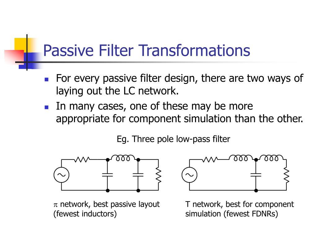 passive filter transformations l.