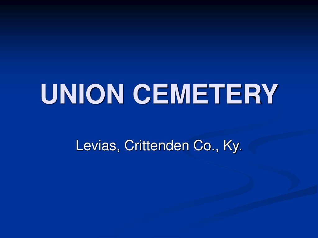 union cemetery l.