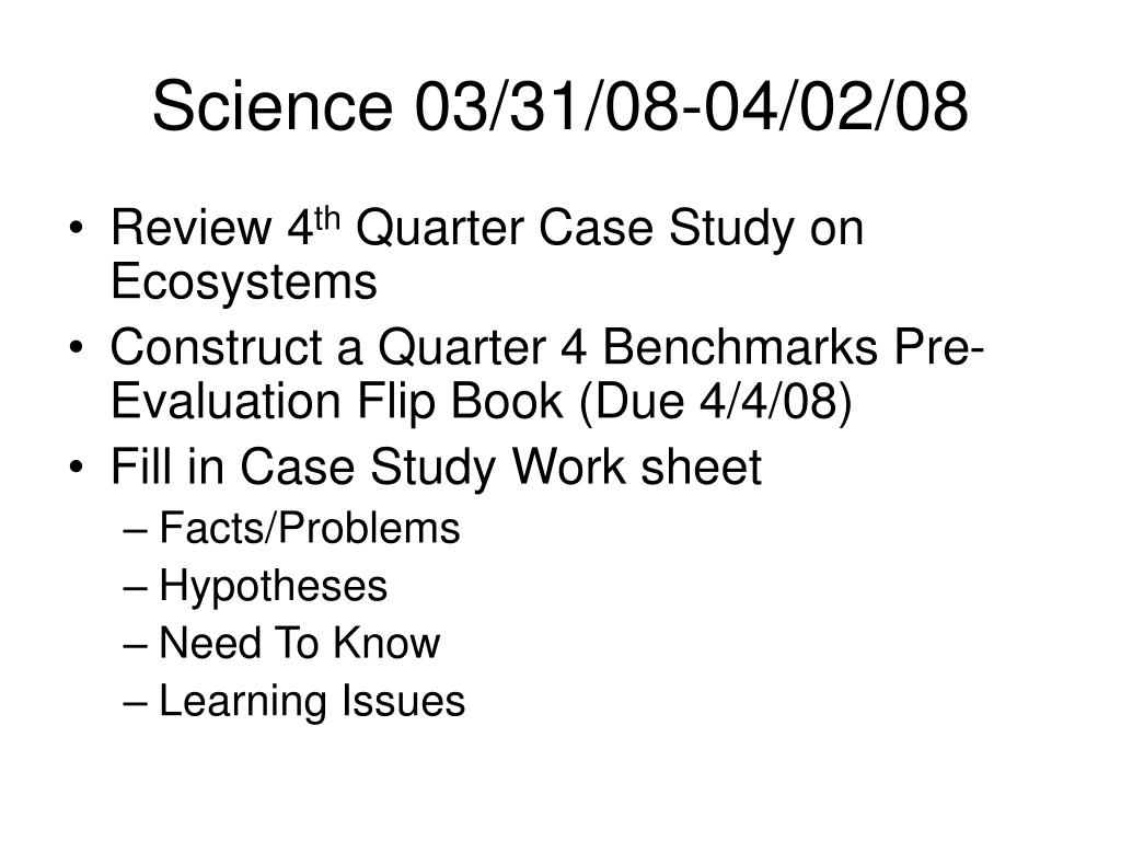Science 03/31/08-04/02/08