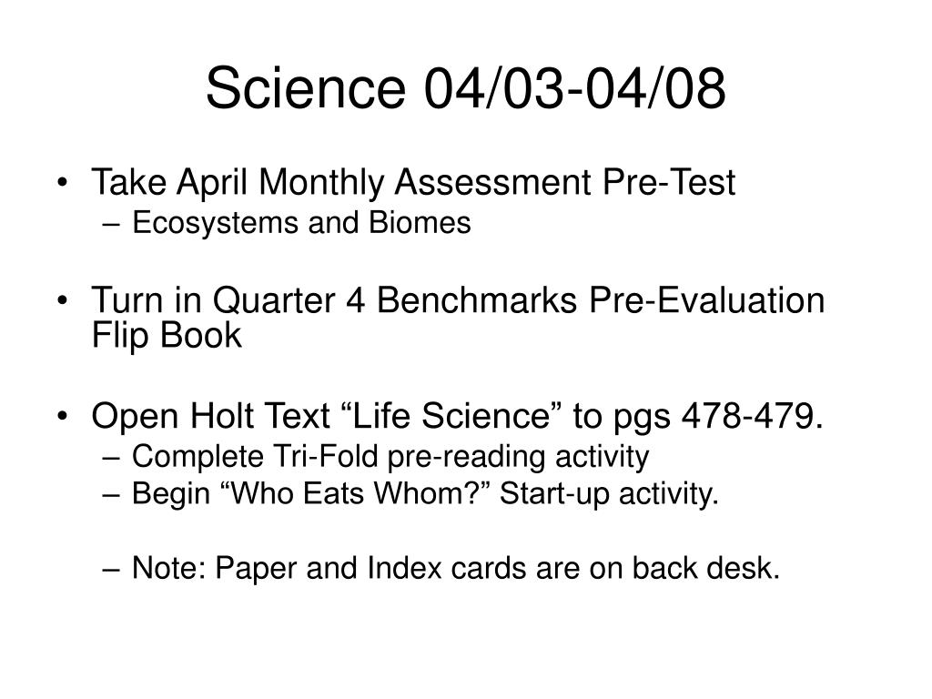 Science 04/03-04/08