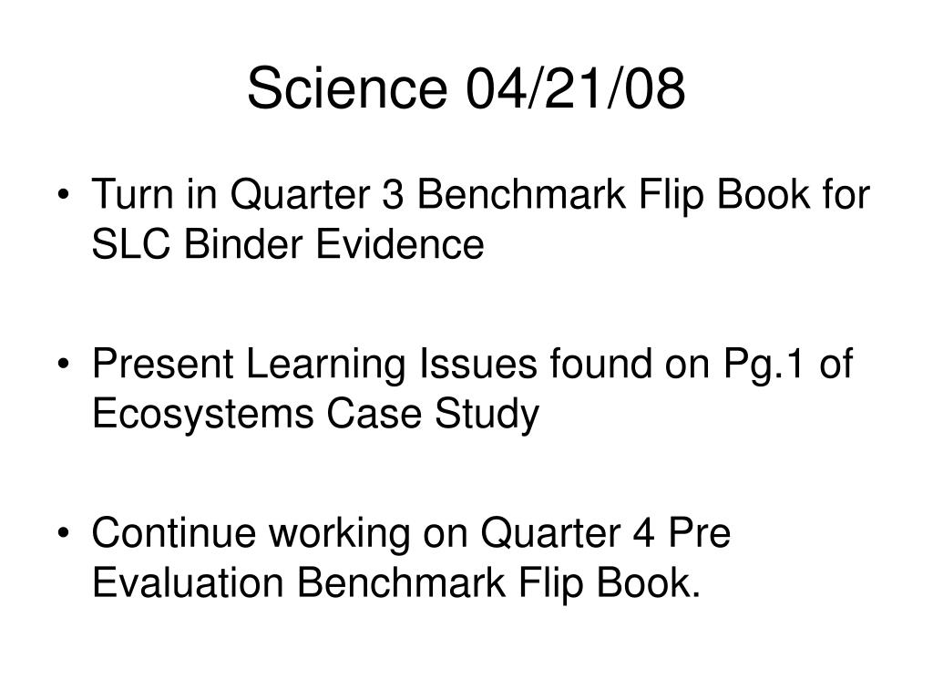 Science 04/21/08