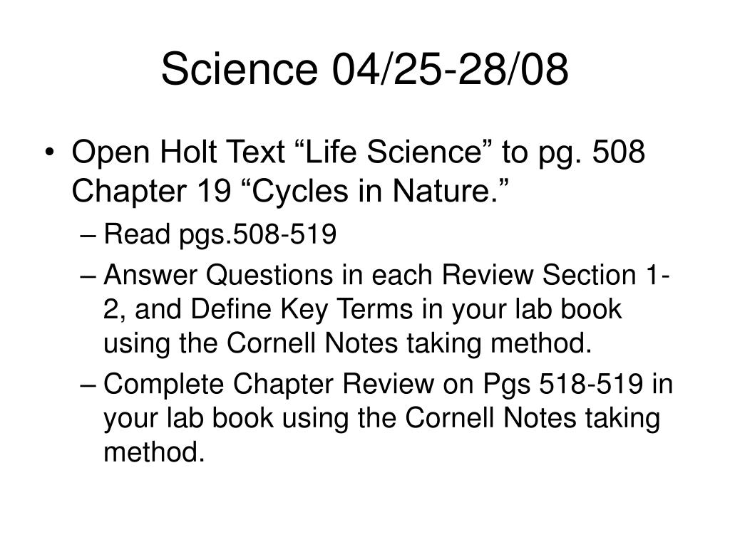 Science 04/25-28/08