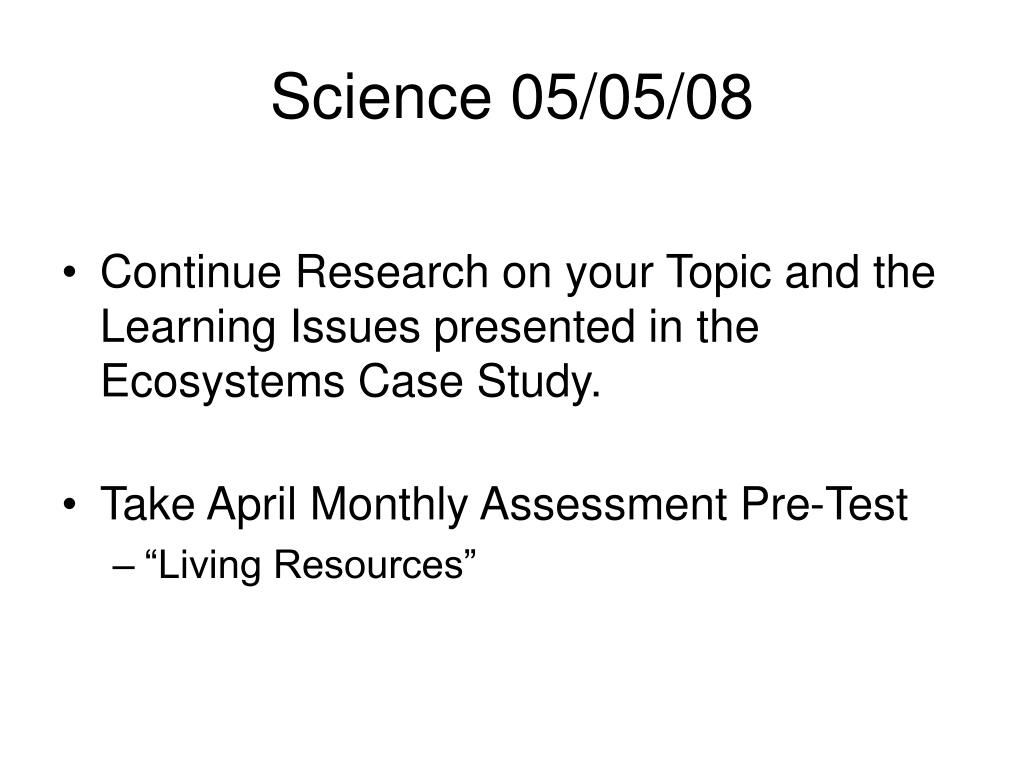 Science 05/05/08