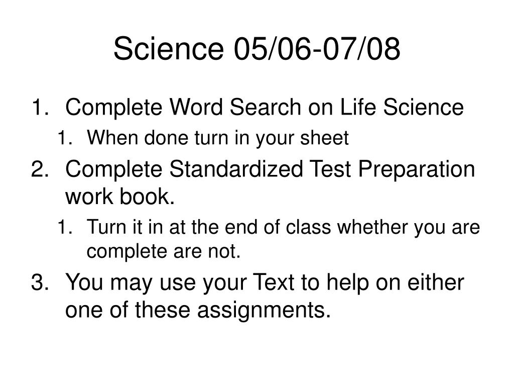 Science 05/06-07/08