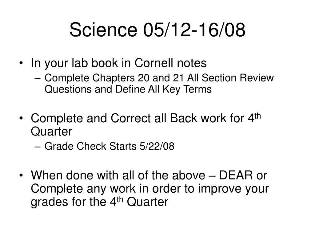 Science 05/12-16/08