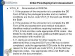 initial post deployment assessment