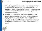 intra deployment encounter