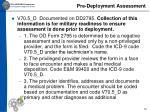 pre deployment assessment
