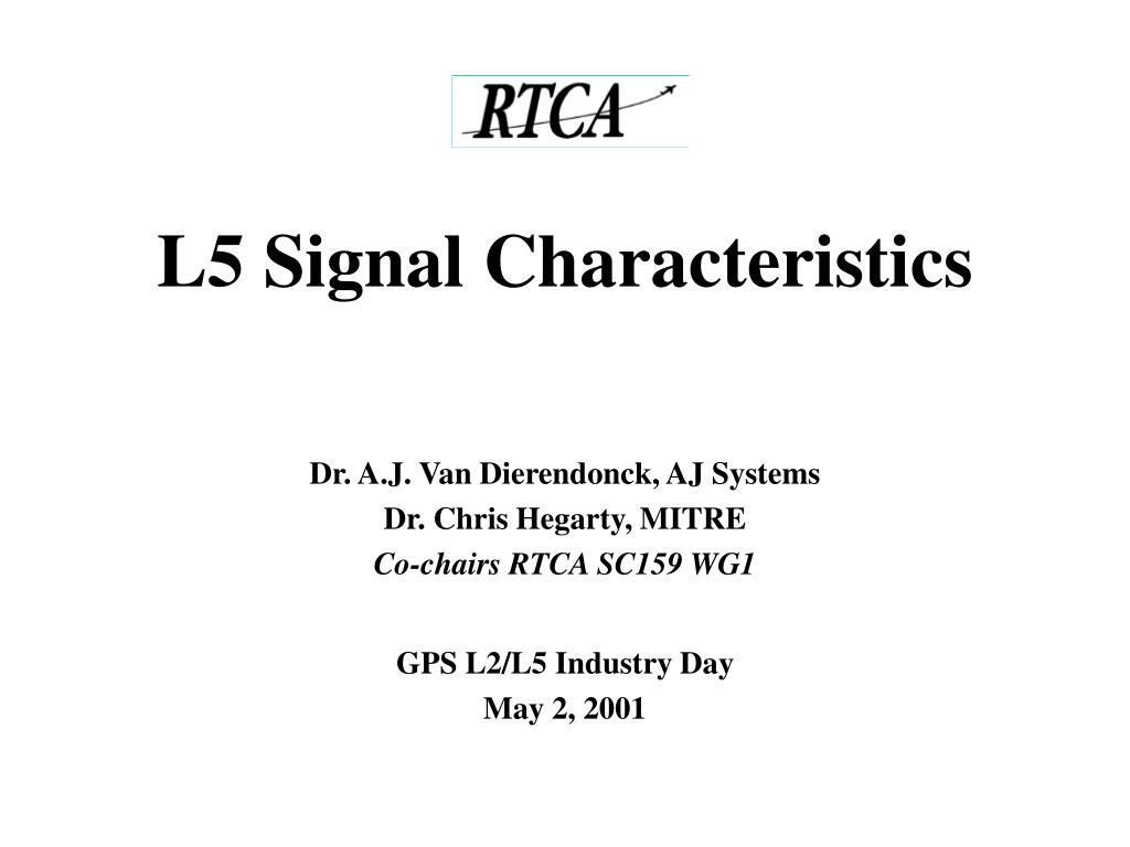 l5 signal characteristics l.