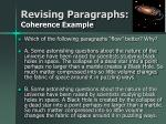 revising paragraphs coherence example