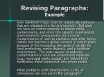 revising paragraphs example