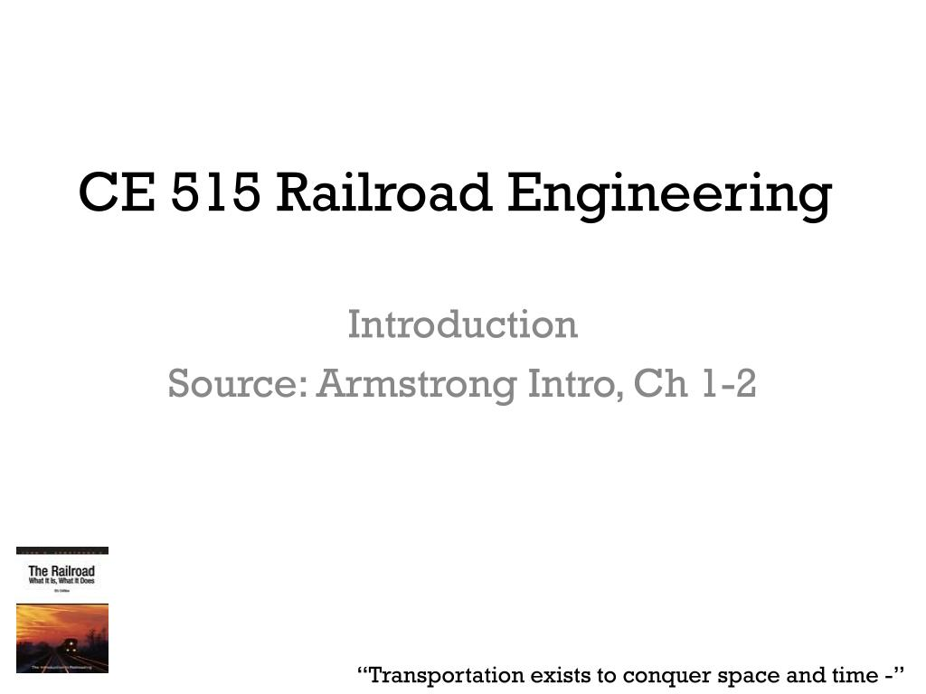 ce 515 railroad engineering l.