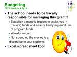budgeting ffvp handbook pg 8