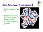buy american requirement