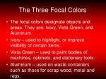 the three focal colors