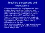 teachers perceptions and expectations
