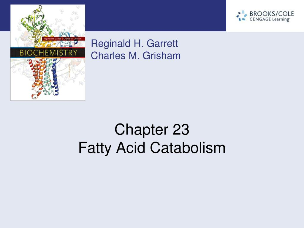 chapter 23 fatty acid catabolism l.