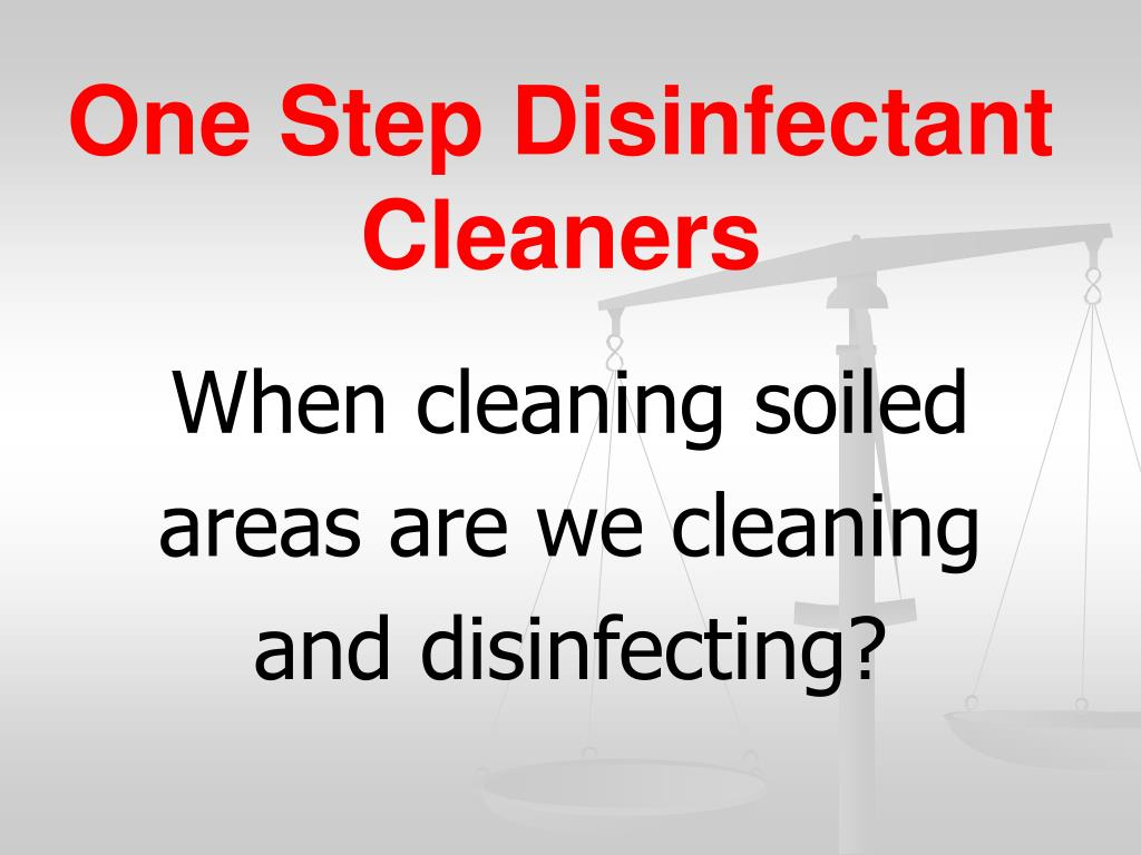 one step disinfectant cleaners l.