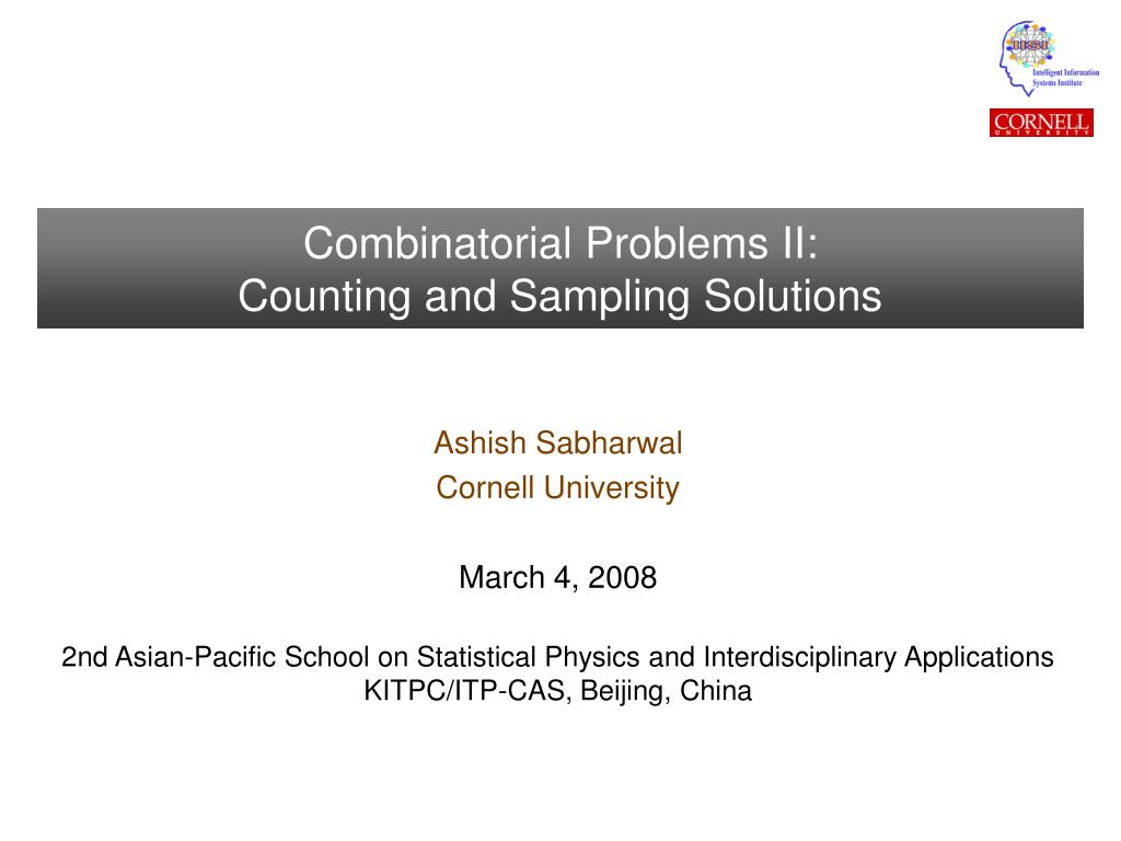 combinatorial problems ii counting and sampling solutions l.