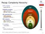 recap complexity hierarchy