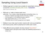 sampling using local search45