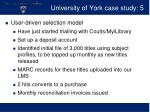 university of york case study 5