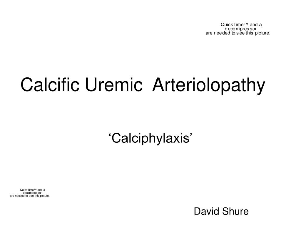 calcific uremic arteriolopathy l.