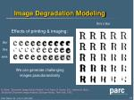 image degradation modeling
