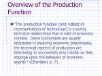 overview of the production function