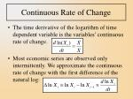 continuous rate of change
