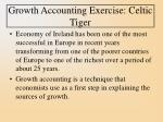 growth accounting exercise celtic tiger