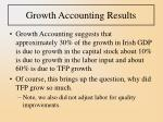 growth accounting results