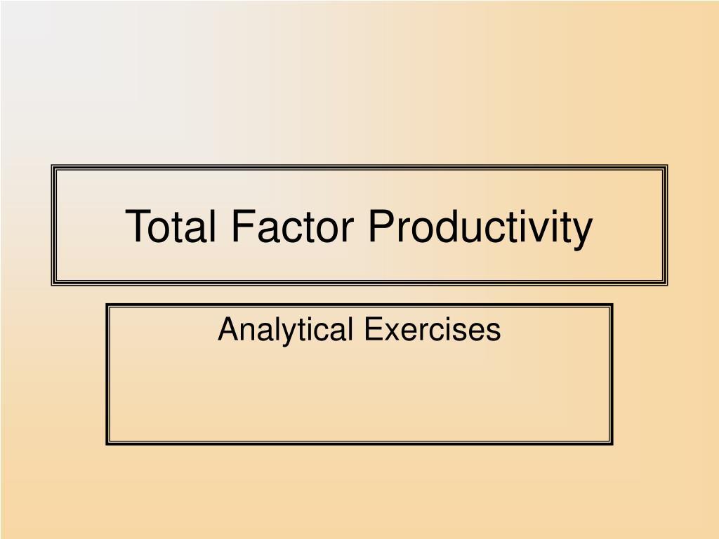 total factor productivity l.
