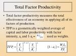 total factor productivity10