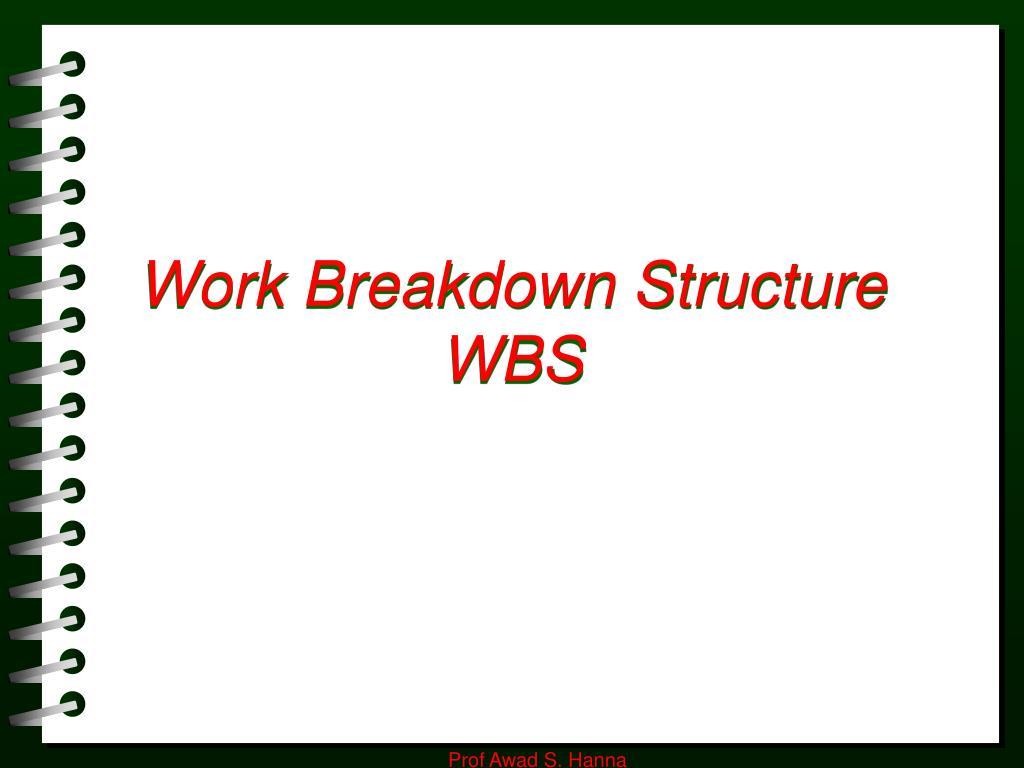 work breakdown structure wbs l.
