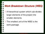 work breakdown structure wbs2