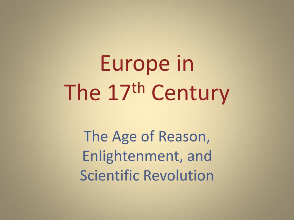 europe in the 17 th century l.