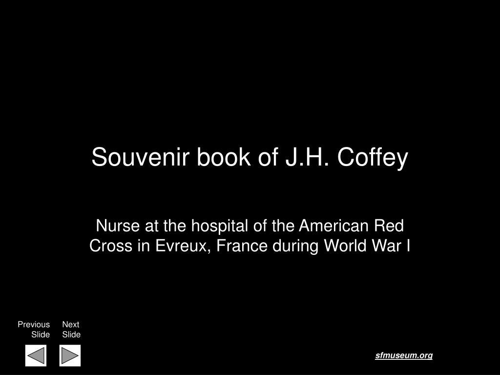 souvenir book of j h coffey l.