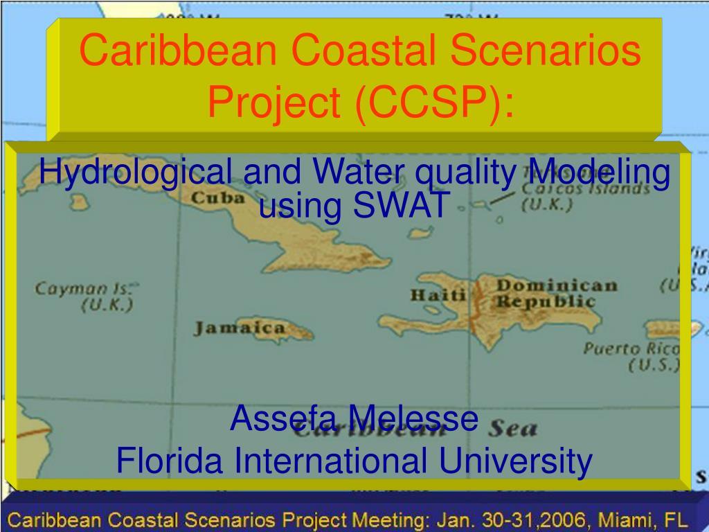caribbean coastal scenarios project ccsp l.