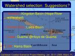 watershed selection suggestions