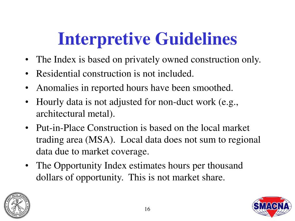 Interpretive Guidelines