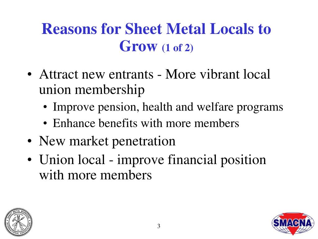 Reasons for Sheet Metal Locals to Grow