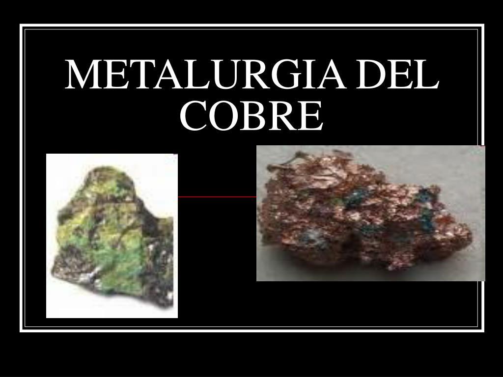 metalurgia del cobre l.