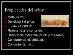 propiedades del cobre