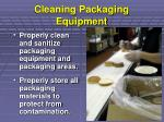 cleaning packaging equipment