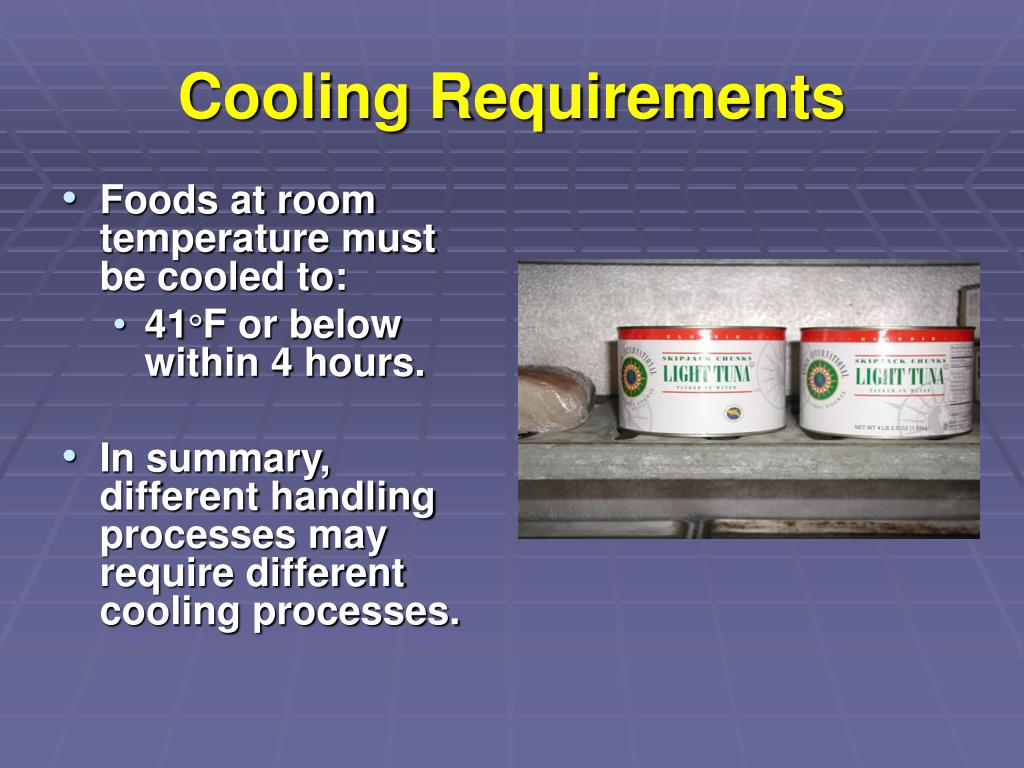 Cooling Requirements