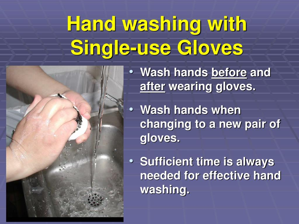 Hand washing with