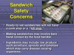 sandwich safety concerns